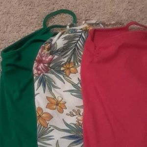 3x gathered tank tops